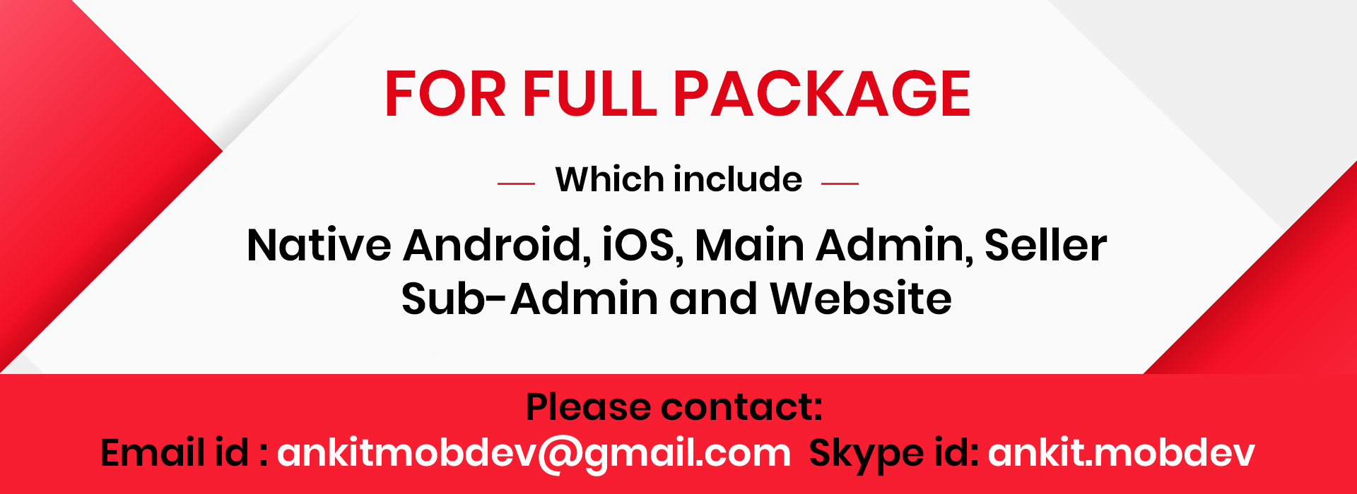 Multi-ecommerce android application developer for hire